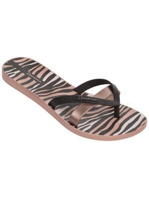 Шлепанцы Ipanema. Цвет: бледно-розовый, черный