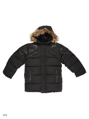 Куртка для мальчика Газета Пралеска. Цвет: черный