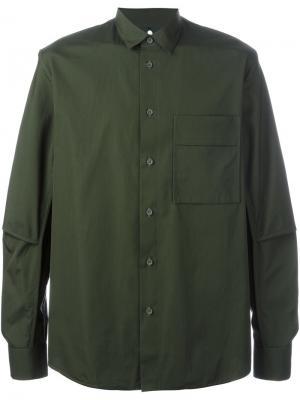 Классическая рубашка Oamc. Цвет: зелёный
