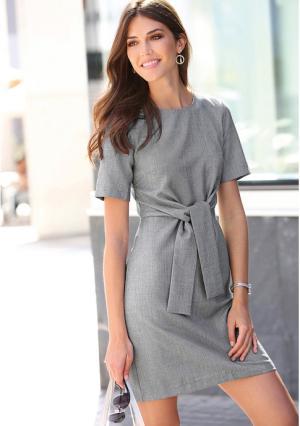 Платье Venca. Цвет: серый
