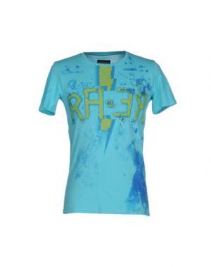 Футболка RA-RE. Цвет: небесно-голубой