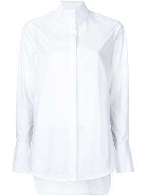 Рубашка с горловиной-воронка Bassike. Цвет: белый