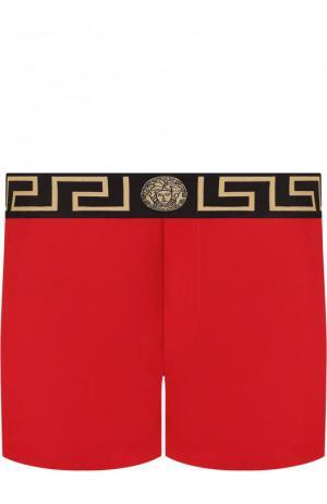 Плавки-шорты с широкой резинкой Versace. Цвет: красный