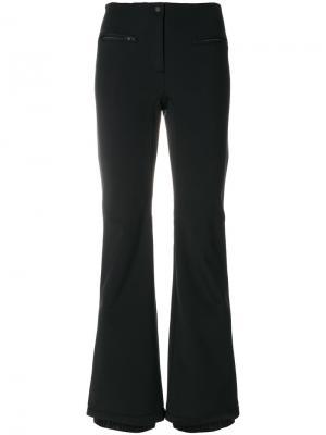 Расклешенные брюки с контрастной оторочкой Fendi. Цвет: чёрный
