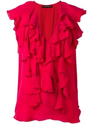 Блузка с рюшами Plein Sud. Цвет: красный