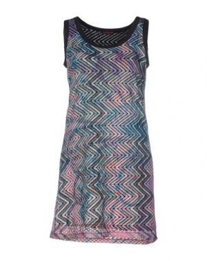 Короткое платье CUSTO BARCELONA. Цвет: цвет морской волны