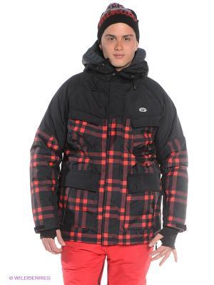 Куртка Animal. Цвет: черный, красный