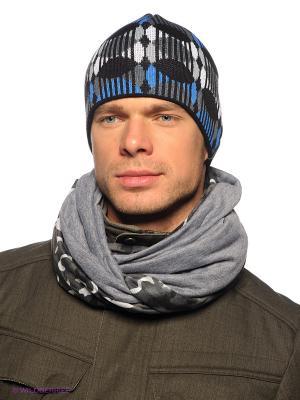 Шапка Viking caps&gloves. Цвет: черный, синий, серый, белый