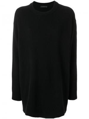 Свободный вязаный пуловер The Row. Цвет: чёрный