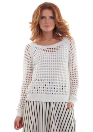 Пуловер MY STYLE. Цвет: белый