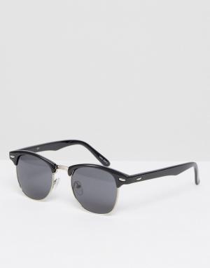 Quay Australia Черные матовые солнцезащитные очки в стиле ретро. Цвет: черный
