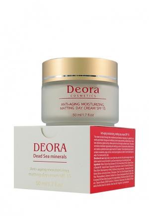 Крем антивозрастной увлажняющий и матирующий Deora Cosmetics. Цвет: бежевый