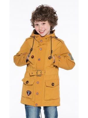 Куртка Pulka. Цвет: горчичный