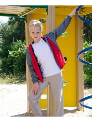 Куртка-ветровка МИКИТА. Цвет: красный, серый