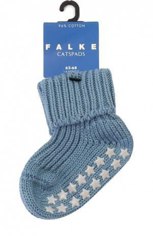 Вязаные носки Catspads Falke. Цвет: синий