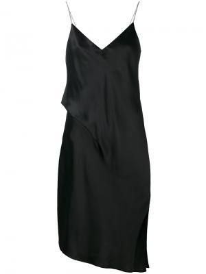 Асимметричное платье-комбинация Rag & Bone. Цвет: чёрный