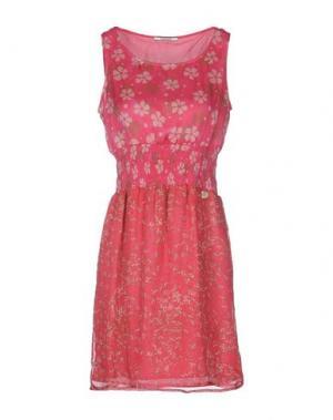 Короткое платье REBEL QUEEN. Цвет: фуксия