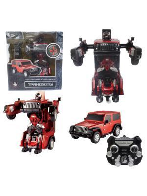 Робот на р/у 2,4GHz, трансформирующийся в джип,красный 1Toy. Цвет: серый