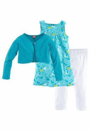 Комплект: болеро + платье легинсы KIDOKI. Цвет: с рисунком