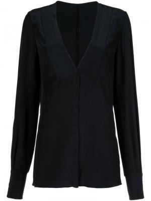 Блузка с V-образным вырезом Jason Wu. Цвет: чёрный