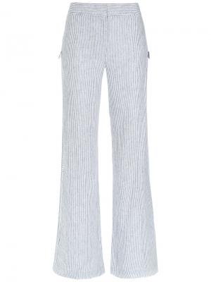 Striped wide trousers Giuliana Romanno. Цвет: белый