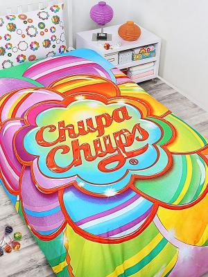 Комплект постельного белья Chupa-Chups Радужный цветок Chupa Chups. Цвет: желтый, зеленый, красный