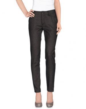 Повседневные брюки LEROCK. Цвет: стальной серый