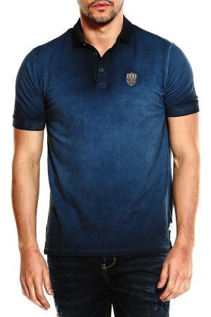 Рубашка-поло 883 Police. Цвет: синий