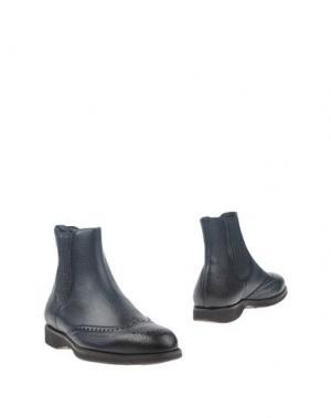 Полусапоги и высокие ботинки BORGIOLI. Цвет: темно-синий