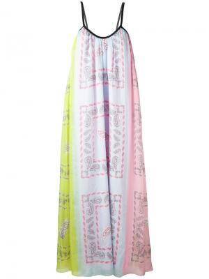 Платье с орнаментом Natasha Zinko. Цвет: многоцветный