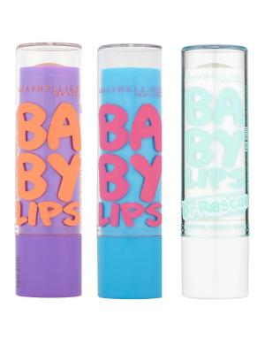 Бальзам для губ Baby Lips Ментол + Интенсивный Уход Персик, 3х1,78 мл Maybelline New York. Цвет: прозрачный