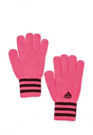Перчатки adidas Performance. Цвет: розовый