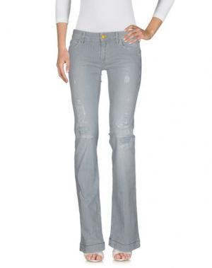 Джинсовые брюки HISTORY. Цвет: синий