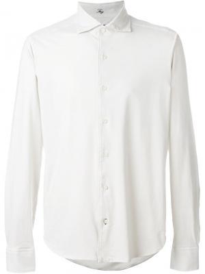 Рубашка с удлиненными концами Fay. Цвет: телесный
