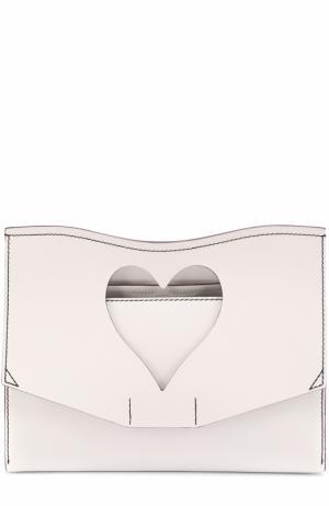 Клатч Heart Cut-out Proenza Schouler. Цвет: белый