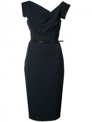 Jackie O dress Black Halo. Цвет: синий