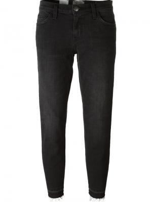 Укороченные джинсы Current/Elliott. Цвет: чёрный