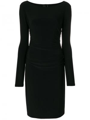 Платье с длинными рукавами Norma Kamali. Цвет: чёрный