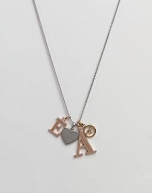 Emporio Armani Ожерелье с подвеской. Цвет: мульти