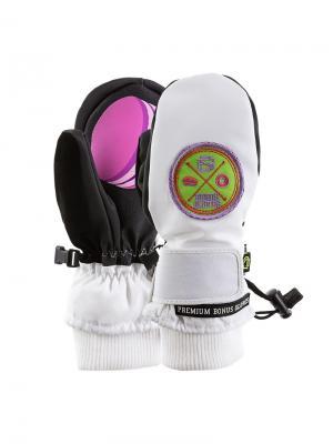 Варежки Bonus Gloves. Цвет: белый