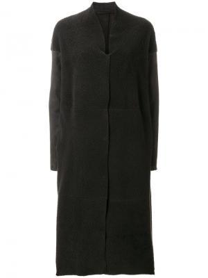 Длинное пальто со спущенными плечами Salvatore Santoro. Цвет: коричневый