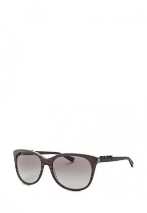 Очки солнцезащитные DKNY. Цвет: серый