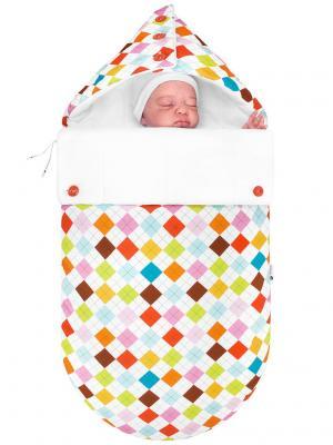 Конверт для новорождённого Гольф (демисезонный) MIKKIMAMA. Цвет: салатовый, коричневый, голубой, красный, оранжевый, розовый, белый