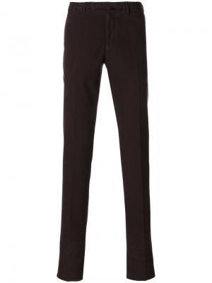 Классические брюки-чинос Incotex. Цвет: красный