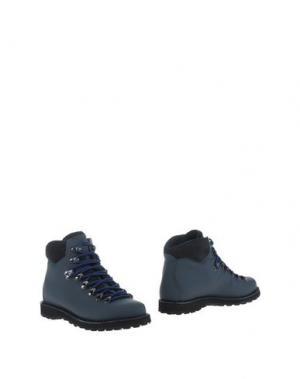 Полусапоги и высокие ботинки DIEMME. Цвет: грифельно-синий