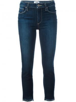 Укороченные джинсы кроя скинни Paige. Цвет: синий