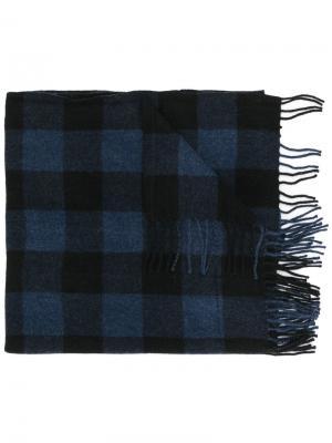 Клетчатый шарф Closed. Цвет: синий