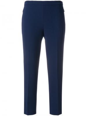 Cropped slim trousers Theory. Цвет: синий