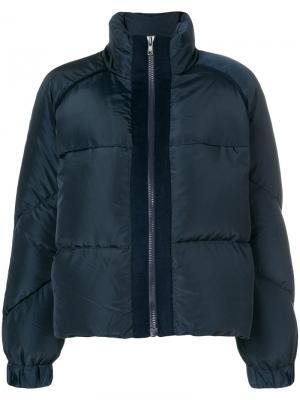 Утепленная куртка Ganni. Цвет: синий