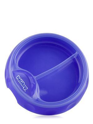 Тарелочка двухсекционная NUBY. Цвет: фиолетовый